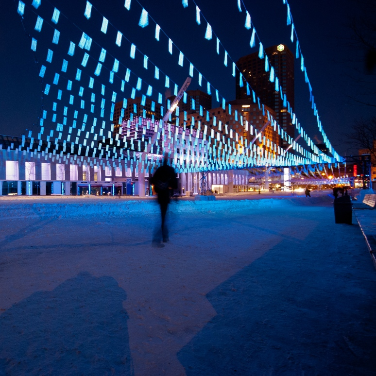 Winter Light Show at Place des Arts
