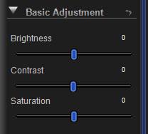 Basic Adjustment Panel Controls