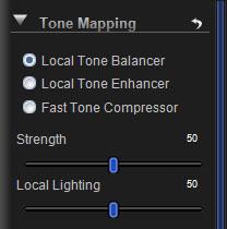 Local Tone Balancer Controls