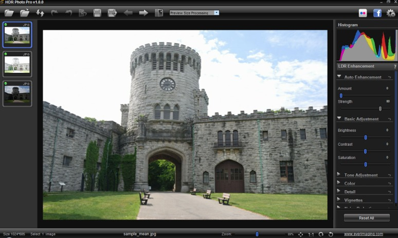 HDR Photo Pro Opening Screen