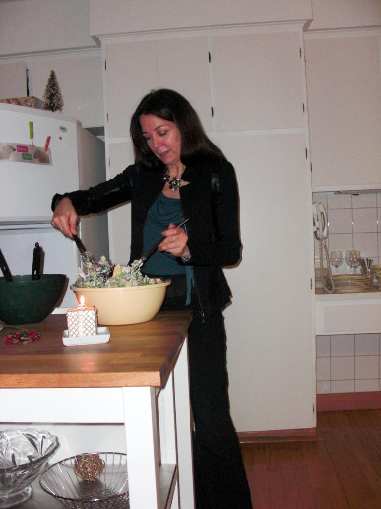 Preparing 4 star salad