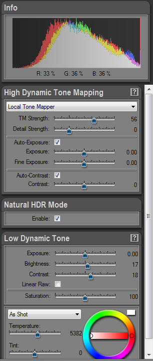 Hdrengine Slider controls
