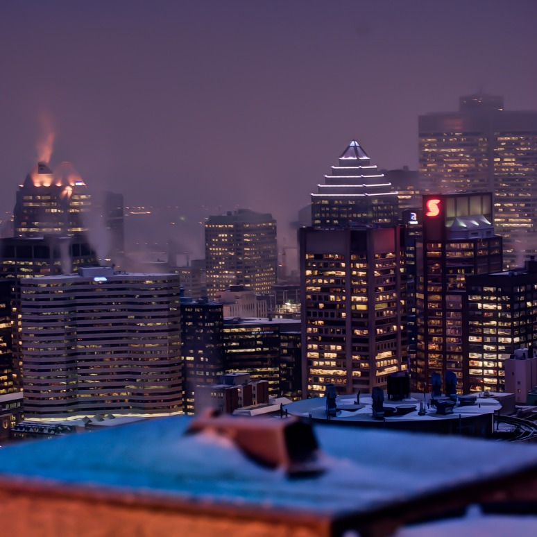 Looking down on Montreal