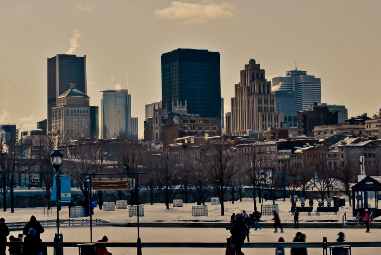 Ice Skating in the Old Port, Montreal