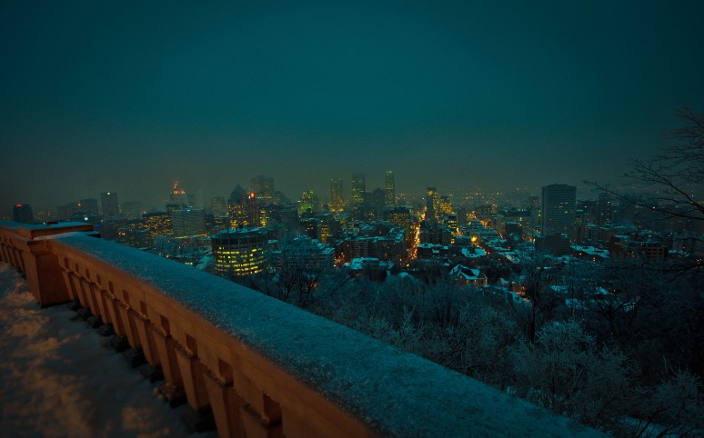 Downtown Montreal from the Kondiaronk Belvedere on Mont Royal