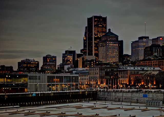 Montreal skyline from the Quai Jacques-Cartier