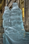 Male and female torso Ice Sculptures - Marché Bonsecours
