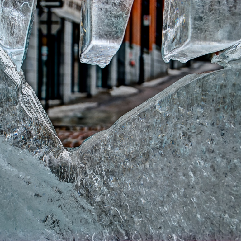 Ice sculpture at Marché Bonsecours