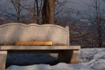 Bench with a view in memory of Mordecai Richler - Mount Royal Cemetery