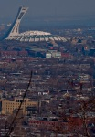 View of Montreal Olympic Stadium from Mount Royal Cemetery