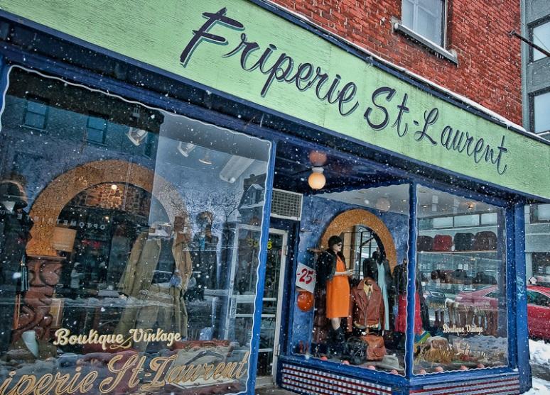 Friperie St-Laurent vintage boutique store front