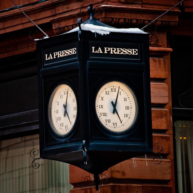 La Presse clock