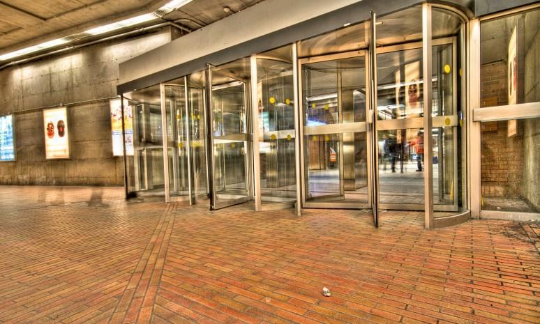 Revolving doors at Bonaventure Metro