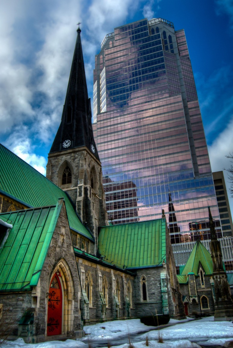Christ Church Cathedral with KMPG tower