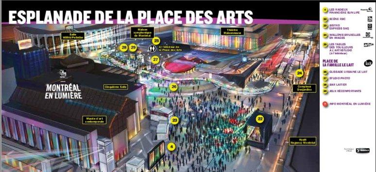 MEL - Place des festival esplanade map