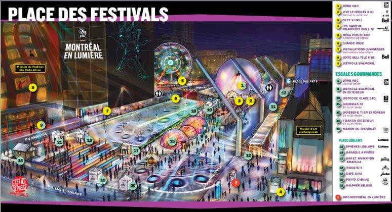 MEL - Place des festival map