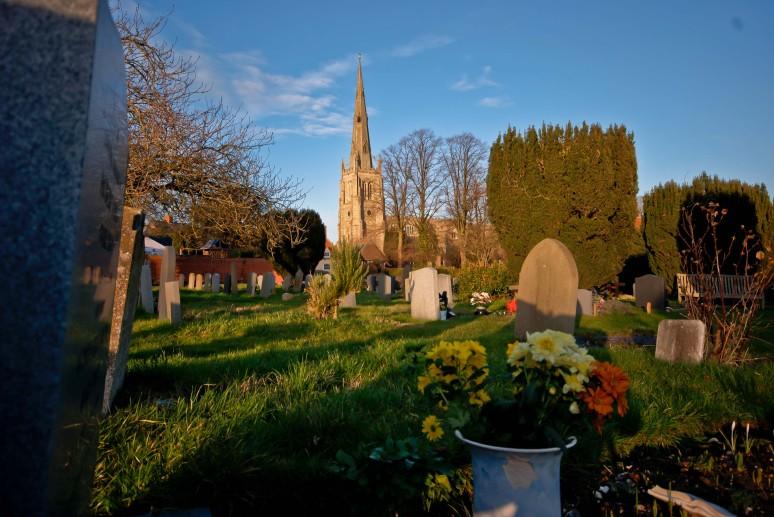 Thaxted Parish church and graveyard
