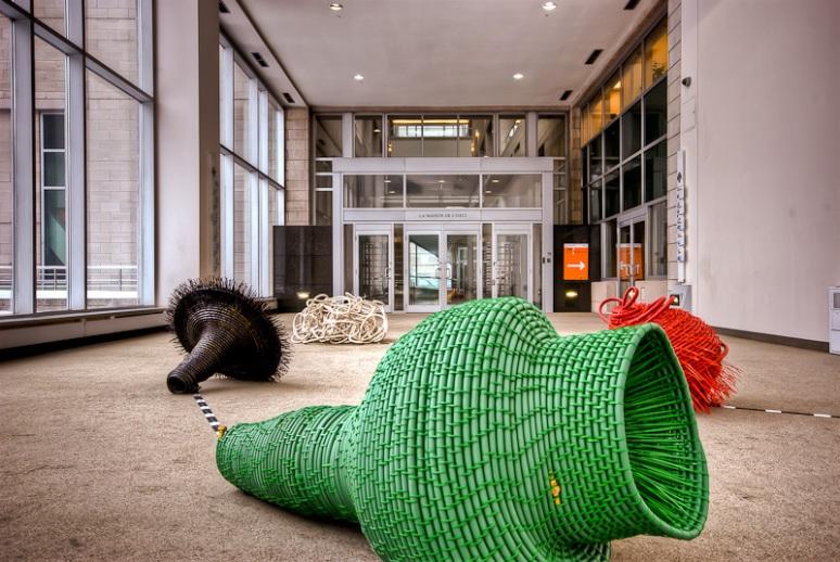 Hélène Rochete - Les Terriers – autres territoires exhibit at Art Souterrain 2012