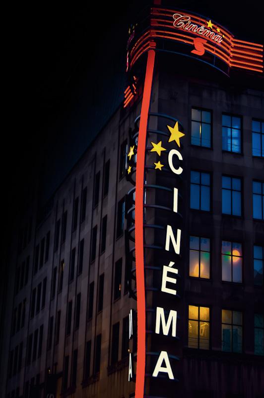 Cinéma Banque Scotia on rue Sainte Catherine