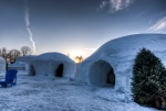 Igloo are of the Canada Snow Village