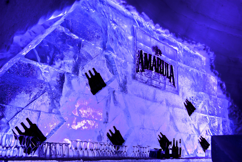 The Amarula Bar at the snow village Canada