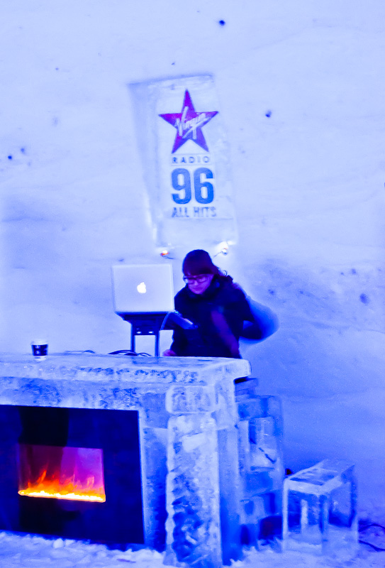 The Amarula DJ had the warmest spot in the bar