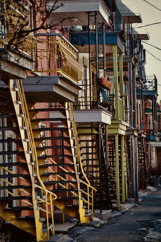 Staircases on rue Rivard in the Plateau