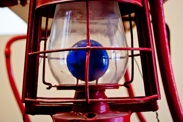 Antique firefighter lamp
