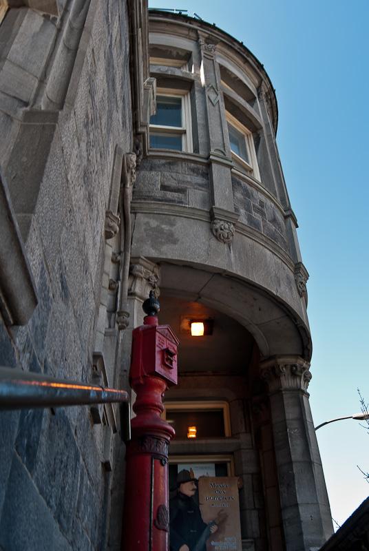 Entrance to the Musée des Pompiers Auxiliaires de Montréal