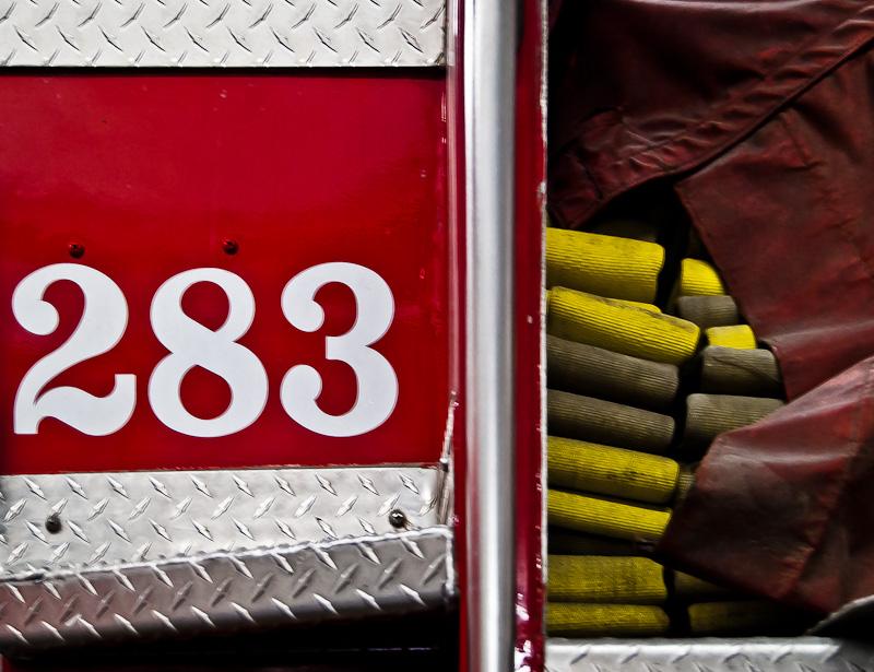 283 Fire truck ID plate