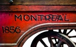 First fire hand pump purchased by Montreal's Fire Department in 1856