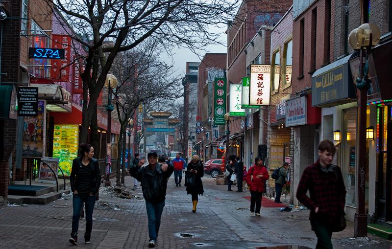 Rue de la Gauchetière in Chinatown