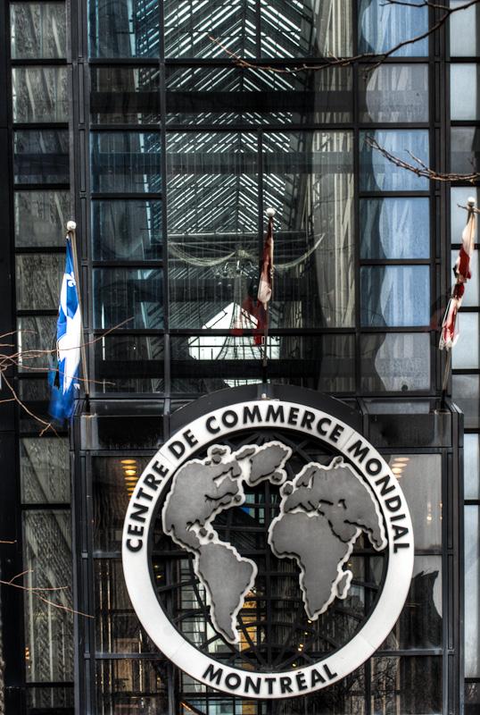 Centre de Commerce Mondial de Montréal entrance on rue McGill