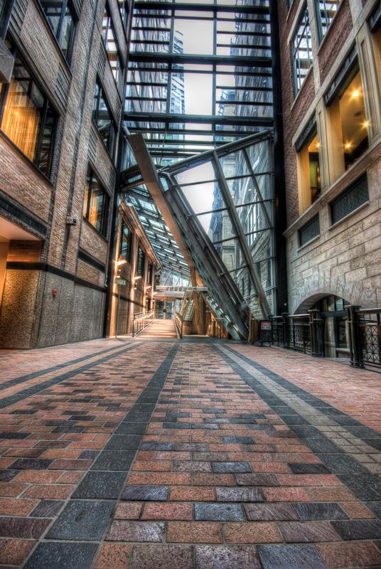 Looking toward Saint Pierre entrance of the Centre de Commerce Mondial de Montreal
