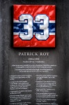Patrick Roy retired jersey monument