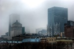 Montreal Skylines shrouded in mist