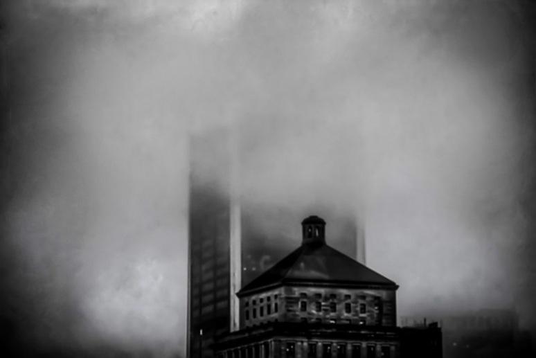 Skyscraper in the clouds