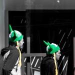 Green Gaelic hats