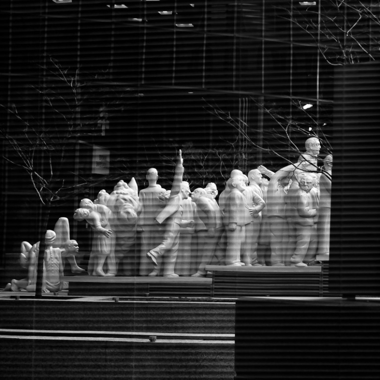 Reflection of The Illuminated Crowd