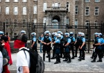 Police kept reasonably low profile