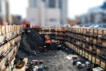 Tilt shifted Building site