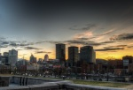 Montreal skyline from Place Vauquelin