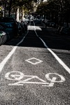 Bike path road markings