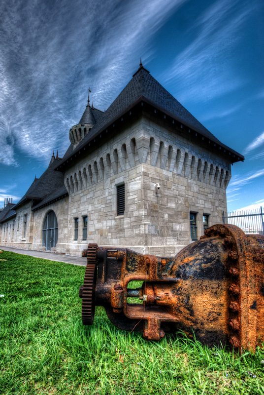 McTavish Reservoir Chateau style pump house