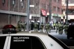 Riot Police block avenue Viger