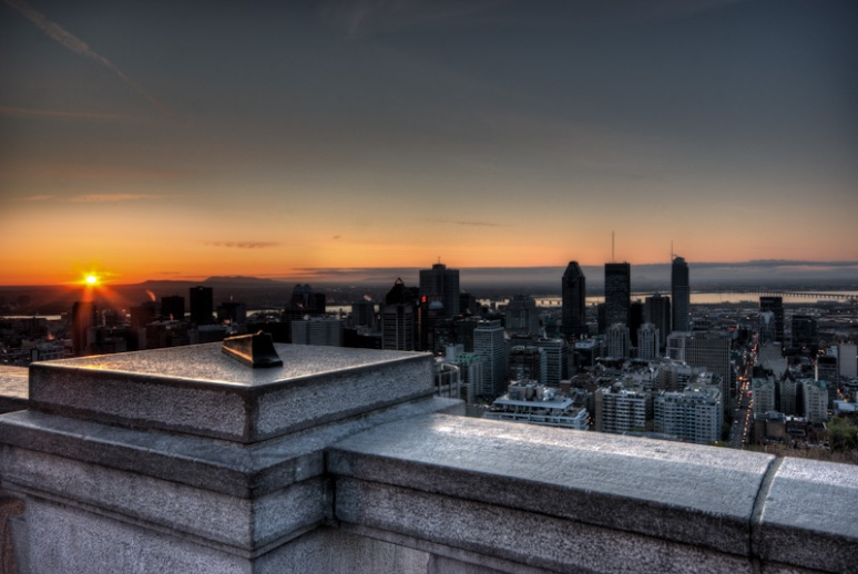 Montreal skyline at sunrise