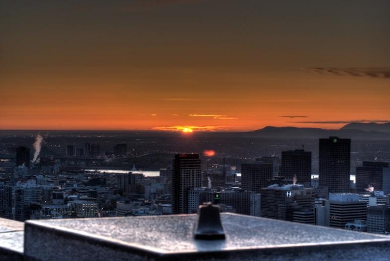 Montreal skyline at sunrise