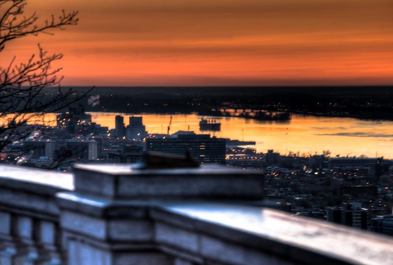 Saint Lawrence river at sunrise