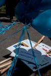 Signs for Autism awareness march