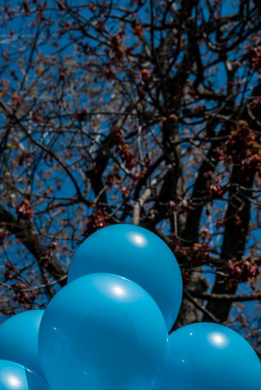 Blue balloons at Carré saint Louis